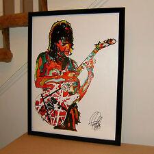 Eddie Van Halen, Guitar, Edward Van Halen, Hard Rock, Music, 18x24 POSTER