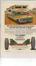 Original 1965 Ford Pickup Magazine Ad - Twin I-Beam