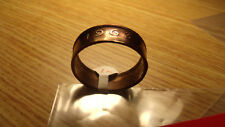 1963 IRISH PENNY COIN RING PURE COPPER COIN RING. Size 11