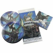 How To Train Your Dragon Birthday Party Supplies 16 Plates Napkins Tablecover
