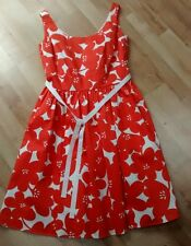 BODEN LADIES ORANGE/ CREAM DRESS, SIZE 10R, BRAND NEW, RRP £99