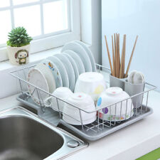 New Large Dish Rack Utensils Holder Side Drainer Drying Tray Stainless Steel