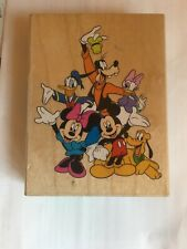 All Night Media MICKEY & FRIENDS Rubber Stamp Minnie Mouse Donald Goofy Disney