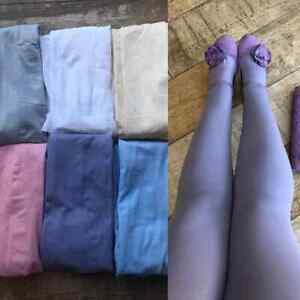 Silky Coloured Opaque 100 Denier Tights Pastels Collection