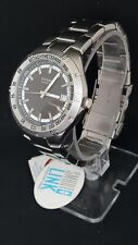 NEW FOSSIL BLUE AM-3897 TACHYMETER ANALOG/DATE WR 100M Men's Watch RARE Gray