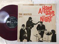 The Beatles A HARD DAYS NIGHT JAPAN ORIGINAL ODEON LP RED WAX OP 7123 FILM COVER