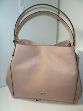 NWOT Coach F36464 Edie 31 Pebble Leather Shoulder Bag Handbag-Blush