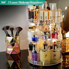 360° Rotating Makeup Organiser Storage Cosmetics Holder Display Stand AU Seller