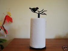 Handmade Iron Bird Paper Towel Holder Stand Brass/Gold Color