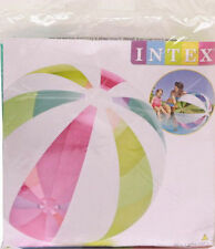 "Giant Intex 42"" Inflatable beach ball Colourful strip design Jumbo ball-107cmNEW"