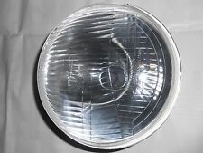 "UNIVERSAL HEAD LAMP HEAD LIGHT ASSY 7"" FLAT 12V JEEP MAHINDRA CJ3B WITH HOLDER"