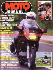 MOTO JOURNAL  659 Essai Test BMW K100 RT K 100 SUZUKI DR 600 HONDA Spacy 1984