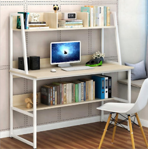 Computer Desk With Drawers Shelves Desktop PC Table Home Office Laboratory New
