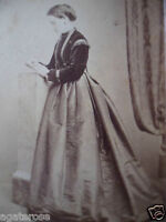 ANTIQUE OLD VINTAGE CDV PHOTO PORTRAIT of VICTORIAN LADY J JAMIESON EDINBURGH