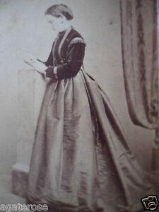 ANTIQUE OLD VINTAGE CDV PHOTO PORTRAIT of VICTORIAN LADY J JAMIESON EDINBURGH