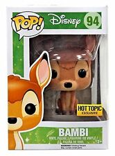 Funko Pop Disney Flocked Bambi Hot Topic Exclusive