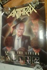 Anthrax Among The Living Tour Record Store 1987 24x30 Promo Band Poster Rare