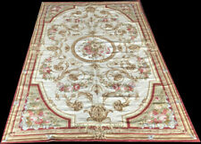 A Decorative Aubusson Design Victorian Style Needlepoint Rug