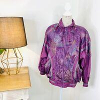 Vintage Target Retro Track Jacket Windbreaker 80s 90s Purple Size 12