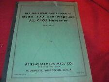 Allis Chalmers Gleaner 100 All Crop Harvester Combine Dealer's Parts Book