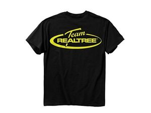 Team Realtree mens T-shirt black Yellow logo 100% cotton short sleeve XL Extra-L