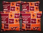 VIRGINIA TECH University Cornhole Beanbags 4 ACA Double Sided V Tech Hokies Bags