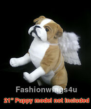 Pets White feather angel wings costume posing props for medium size dogs cats