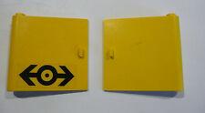 2 x Lego Eisenbahn Türen,9 Volt rechts&links gebraucht! Aufkleber links