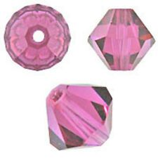 Swarovski Crystal Bicone. Fuchsia Color. 4mm. Approx. 144 PCS. 5328