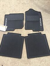 NEW OEM 2016-2018 NISSAN TITAN CREW CAB ALL WEATHER RUBBER FLOOR MATS - 4 PC SET