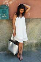 Karen Millen Lace Up Strappy Boho Beach Summer Cruise White Dress 8 to 14 DB080