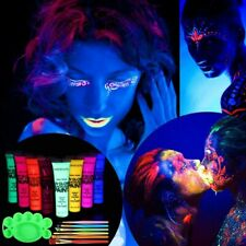 8X Glow in The Dark Party Night Running Halloween Makeup Face Body Paint Natural