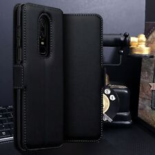 1 plus 6 Low Profile Black  Real Leather Wallet Case ONE PLUS SIX