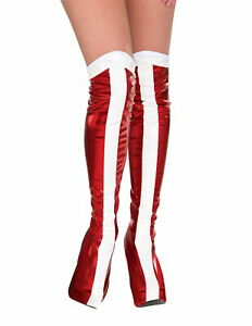 Wonder Woman Boot Tops Adult Toppers Womens Adult Super Hero Cosplay Costume