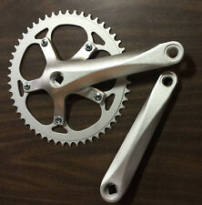 SAMOX FIXED GEAR TRACK BIKE CRANK 170 52T Bicycle Crankset Matte Silver
