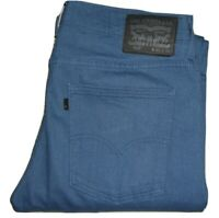 Mens LEVI'S 508 Blue (0112) Regular Tapered Stretch Denim Jeans W32 L30