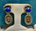 Sterling Silver Carolyn Pollack Native American Ladies Dangle Earrings w/ Lapis