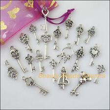 20 New Mixed Lots of Tibetan Silver Tone Keys Charms Pendants
