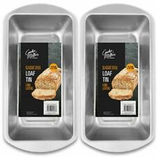 2x Deep Rectangle Baking Tins Oven Tray Pan Mould Bake Loaf Cake Bread Meatloaf