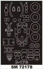 Montex Mini Mask 1:72 B-17 G for Revell Kit Spraying Stencil #SM72178