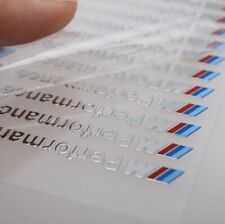 M-Colored MPerformance Metal Sticker Decal for BMW 1/2/3/4/5x1x3x4x5x6 5pcs/Set