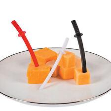 72 Ninja Sword Food Picks Cheese Fruit Martial Arts Superhero Party