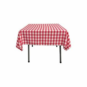 Gingham/Checkered Cotton Blend Italian Restaurant Style Tablecloth/Overlay