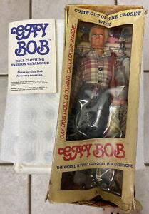 1977 GAY BOB Anatomically Correct Doll +Fashion Catalogue In Box.