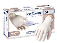 Reflexx R51 100 guanti  in lattice bianco con polvere monouso per medici dentist