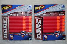5 X Nerf N-Strike Elite Mega 10 Dardos Recarga (50 Dardos)