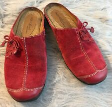 Women's 7M Natural Soul by Naturalizer Fanner Slip On Red Suede Shoes 7 M