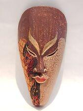 "Wooden African Mask Tiki Mask Tribal Bali Wall Decor Art Mask 10"" #N0228"