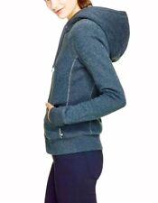 TNA Aritzia Blue Cotton PACIFIC HOODIE JACKET/ Sweater size XSMALL