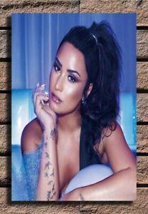 Demi Lovato Music Singer 24x36 27x40 Fabric Poster CX239